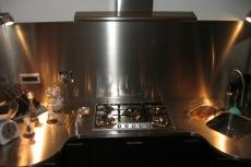 Top in acciaio per cucine